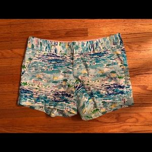 Lilly Pulitzer Beach Scene Shorts, size 6